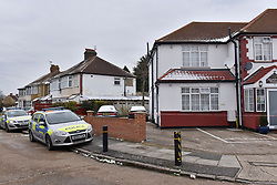 © Licensed to London News Pictures. 19/03/2018. LONDON, UK.  The exterior of a residential property in Haslemere Avenue, Hounslow, West London.  According to police reports, a murder investigation has been launched after a man was pronounced dead at the property on the morning of 18 March.  A 24 year old man has been arrested on suspicion of murder and a 19 year old woman has been arrested on suspicion of assisting an offender.  Detectives from the Homicide and Major Crime Command are investigating. Photo credit: Stephen Chung/LNP