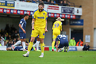 AFC Wimbledon midfielder Anthony Wordsworth (40) celebrates goal during the EFL Sky Bet League 1 match between Southend United and AFC Wimbledon at Roots Hall, Southend, England on 12 October 2019.
