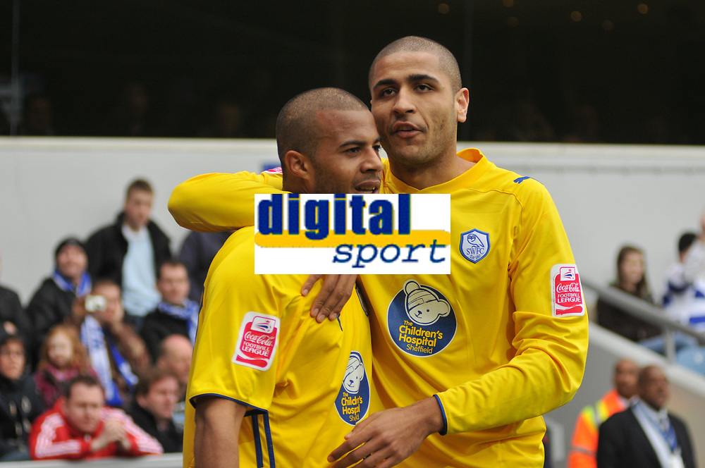 Photo: Tony Oudot/Richard Lane Photography. QPR v Sheffield Wednesday. Coca-Cola Football League One. 03/04/2010. <br /> Tom Sears celebrates his equaliser for Wednesdayfifteen minutes from time to earn a point for his side