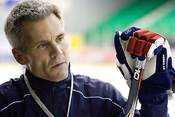 Head coach John Harrington at third practice of Slovenian National Ice hockey team before World championship of Division I - group B in Ljubljana, on April 6, 2010, in Hala Tivoli, Ljubljana, Slovenia.  (Photo by Vid Ponikvar / Sportida)
