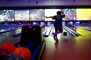 Evan Bernstein (9) bowls during the 6th annual Zweig Family End of School Year Bash at 300 Dallas in Addison on Sunday, April 14, 2013. (Cooper Neill/The Dallas Morning News)