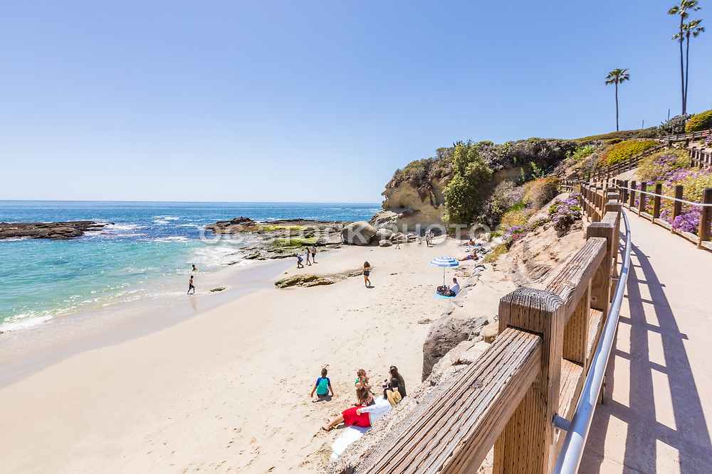 Pedestrian Walkway to Treasure Island Beach From the Montage Resort Laguna Beach