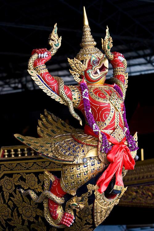 Garuda figurehead at the Royal Barge Museum in Bangkok, Thailand