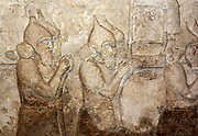 Assyrian wall-panel depicting an attack on an enemy town. Dated approximately 728 BC, from the central palace in Nimrud.