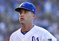 July 15, 2017 - Kansas City, MO, USA - Kansas City Royals starting pitcher Danny Duffy walks in from the field after pitching out of a jam in the second inning July 15, 2017 at Kauffman Stadium in Kansas City, Mo. The Rangers won, 1-0. (Credit Image: © John Sleezer/TNS via ZUMA Wire)