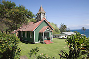Hawaiian church, Kahakuloa, Maui, Hawaii<br />