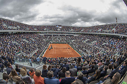 Philippe Chatrier Central court during the sei final French Tennis Open Day 13 at Roland-Garros arena on June 07, 2019 in Paris, France. Photo by ABACAPRESS.COM