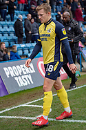 Scunthorpe United forward George Thomas (18) during the EFL Sky Bet League 1 match between Gillingham and Scunthorpe United at the MEMS Priestfield Stadium, Gillingham, England on 16 February 2019.