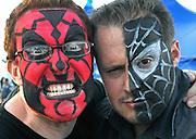 UNITED KINGDOM-LONDON.  Face painting at  Skyfest 2010. 16/07/2010. STEPHEN SIMPSON...
