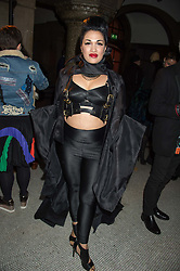 IMMODESTY BLAISE at the Veuve Clicquot Widow Series launch party hosted by Nick Knight and Jo Thornton MD Moet Hennessy UK held at The College, Central St.Martins, 12-42 Southampton Row, London on 29th October 2015.