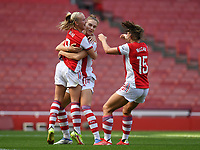 Football - 2021 / 2022 Women's Super League - Arsenal vs Chelsea - Emirates Stadium - Sunday 5th September 2021<br /> <br /> Arsenal Women's Beth Mead celebrates scoring his side's third goal.<br /> <br /> COLORSPORT/Ashley Western