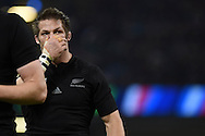Richie McCaw, the New Zealand captain looks on. Rugby World Cup 2015 pool c match, New Zealand v Georgia at the Millennium Stadium in Cardiff, South Wales  on Friday 2nd October 2015.<br /> pic by  Andrew Orchard, Andrew Orchard sports photography.