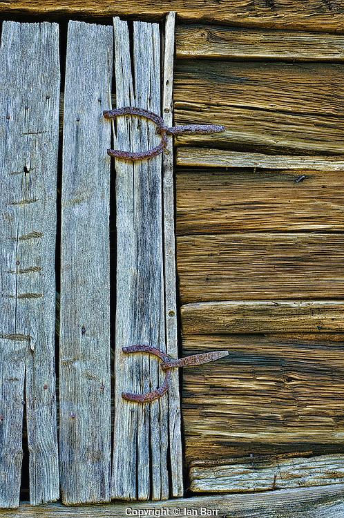 Barn Detail with Horseshoe hinges,Great Smoky Mountains,North Carolina.