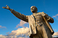 Lenin Statue - Memento Sculpture Park ( Szobaopark ) Budapest, Hungary .<br /> <br /> Visit our HUNGARY HISTORIC PLACES PHOTO COLLECTIONS for more photos to download or buy as wall art prints https://funkystock.photoshelter.com/gallery-collection/Pictures-Images-of-Hungary-Photos-of-Hungarian-Historic-Landmark-Sites/C0000Te8AnPgxjRg