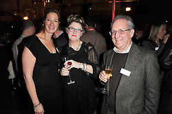 Left to right, LOUISE HESKETT, author SALLY GARNER and JOE FRIEDMAN at the annual Orion Publishing Group's Author party held in the Paul Hamlyn Hall, The Royal Opera House, Covent Garden, London on 15th February 2011.