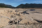 USA, Oregon, Detroit Lake State Recreation Area,Detroit Lake during the drought of 2015.