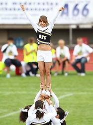 27.07.2010, Wetzlar Stadion, Wetzlar, GER, Football EM 2010, Team France vs Team Great Britain, im Bild Stunt der Cheerleader,  EXPA Pictures © 2010, PhotoCredit: EXPA/ T. Haumer