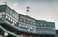 [Note: This high dynamic range photo was created from a single exposure during post-processing.] Fenway Park press box on August 3, 2012.