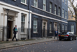 © Licensed to London News Pictures. 23/11/2016. London, UK. Chancellor PHILIP HAMMOND leaves 10 Downing Street in London to delivers his first Autumn statement to parliament. Photo credit: Ben Cawthra/LNP