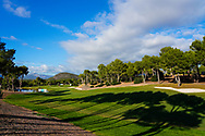 A general view of the 18th hole during previews of the Challenge Tour Grand Final 2020, T-Golf & Country Club, Palma, Balearic Islands. 18/11/2020<br /> Picture: Golffile | Phil Inglis<br /> <br /> <br /> All photo usage must carry mandatory copyright credit (© Golffile | Phil Inglis)