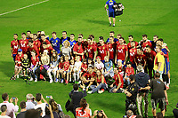 Spain's team with a group of children of the Hospital Pedagogical Unit of the General Hospital of Alicante after training session. October 5,2017.(ALTERPHOTOS/Acero)
