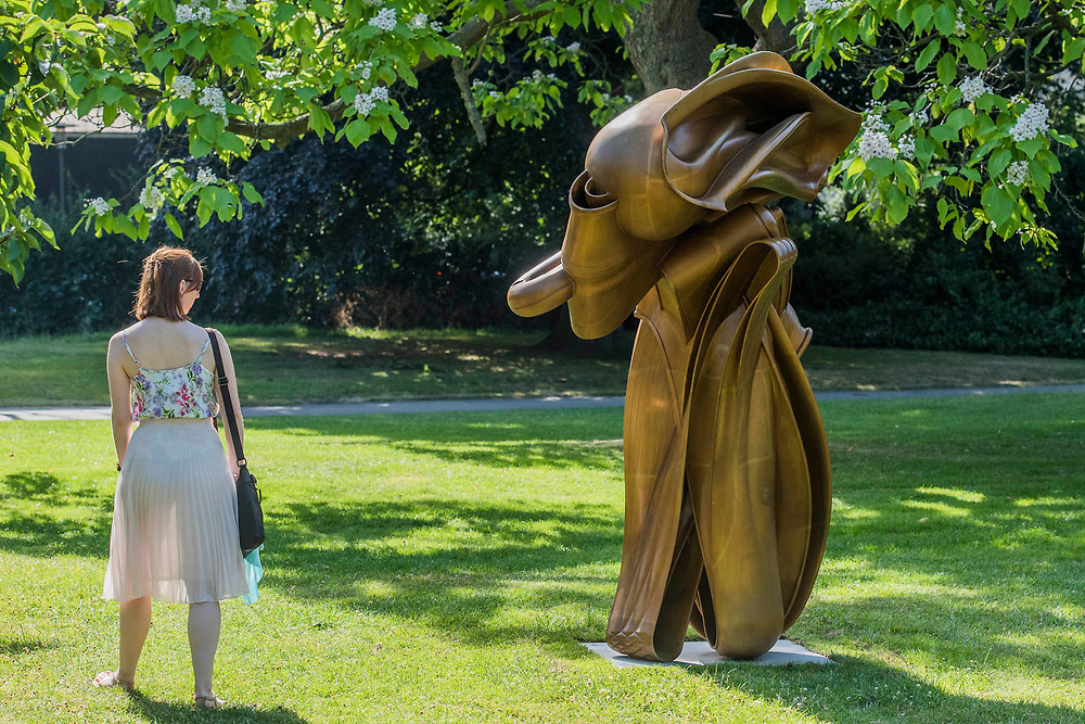 Tony Cragg, Stroke (2014) - The Frieze Sculpture Park 2017 comprises large-scale works, set in the English Gardens . The installations will remain on view until 8 Oct 2017.