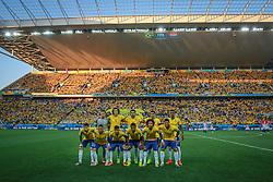 Equipe do Brasil posa para foto oficial na abertura da Copa do Mundo 2014, no Estádio Arena Corinthians, em São Paulo. FOTO: Jefferson Bernardes/ Agência Preview