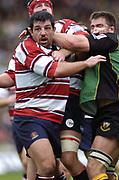 Northampton, Northamptonshire,  18th September 2004, Franklyn Gardens, [Mandatory Credit Pete Spurrier/Intersport Images]bZurich Premiership - Northampton - Saints vs Gloucester. <br /> <br /> Gloucester's, Olivier Azam
