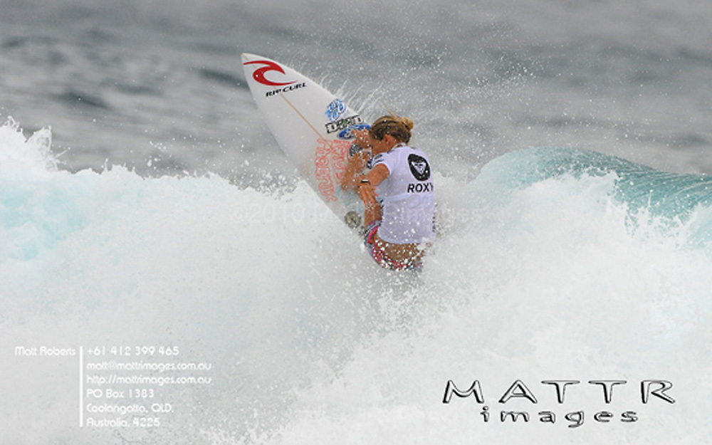 Gold Coast, Australia - March 5: Steph Gilmore during the quarter finals of the Roxy Pro Gold Coast 2010 at Snapper Rocks on the Gold Coast, March 5, 2010 Photo by Matt Roberts/MATTRimages.com.au | Image ID: MTR_0.jpg