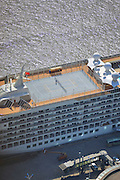"SHANGHAI, CHINA - OCTOBER 28: (CHINA OUT) <br /> <br /> World's Largest Luxury Cruise Arrives In Shanghai<br /> <br /> Tennis court on one  of the world's largest luxury cruise called The World arrives at Shanghai port on October 28, 2014 in Shanghai, China. One of the world's largest personal luxury cruise called ""The World"" contains 198 cabins and 165 luxurious apartment. <br /> ©Exclusivepix"