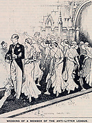 Keeping Britain tidy. Cartoon from 'Punch', ondon, 1932.