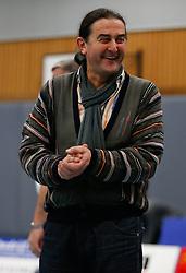21-12-2013 VOLLEYBAL: BEKER ZAANSTAD - PRINS VCV: ZAANSTAD<br /> Ivo Martinovic, coach Prins VCV geniet zichtbaar<br /> ©2013-FotoHoogendoorn.nl / Pim Waslander