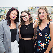 """18.05.2018.          <br /> More than 500 people attended the flagship event of the inaugural Unwrap LSAD Fashion Festival in Limerick.<br /> <br /> Pictured at the event were, Megaon Easton, Michaela Monahan and Berenice Mischo.<br /> <br /> The Limerick School of Art & Design, LIT, Fashion Design Graduate Exhibition and launch of the """"The Fashion Film"""" at Limerick City Gallery of Art, in partnership with EVA International, attracted hundreds of people from the world of fashion. <br /> <br /> A total of 27 fashion graduates presented their designs alongside the specially commissioned film by fashion stylist and creative director Kieran Kilgallon and videographer Albert Hooi. Picture: Alan Place"""