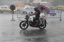 September 1, 2017 - Kolkata, India - In Kolkata sudden rain brings hazards to an ordinary day. (Credit Image: © Sandip Saha/Pacific Press via ZUMA Wire)