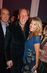 VISCOUNT & VISCOUNTESS DAVENTRY  at a party hosted by jeweller Theo Fennell and Dominique Heriard Dubreuil of Remy Martin fine Champagne Cognac entitles 'Hot Ice' held at 35 Belgrave Square, London, W1 on 26th October 2004.<br />