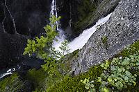 Norway, Hardanger, Eidfjord. Vøringsfossen waterfall.