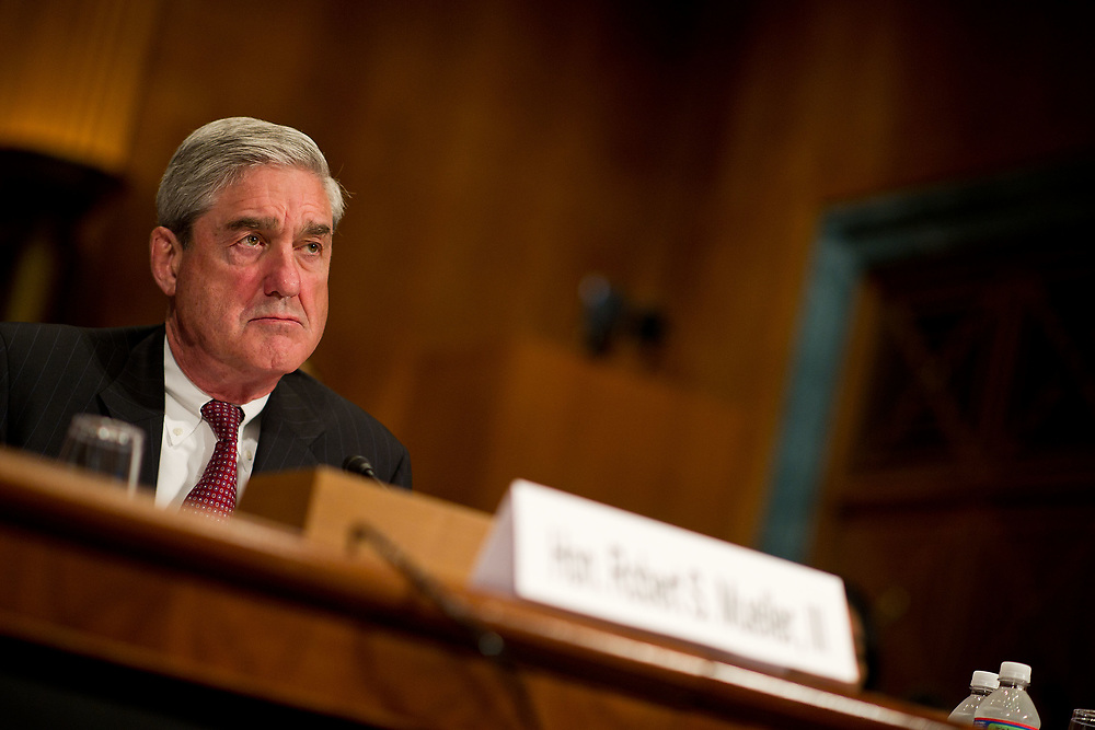 FBI Director Robert Mueller is pictured during a Senate Judiciary Committee hearing on extended FBI Director Robert Mueller's term on Wednesday, June 8, 2011 in Washington.  (Photo by Jay Westcott/Politico)