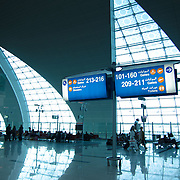 Signs inside Dubai Airport