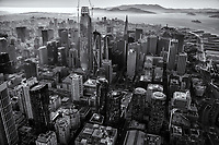 Core of Downtown San Francisco (monochrome)