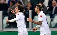 L'esultanza per il gol di Stevan Jovetic ( Fiorentina ) <br /> Goal celebration<br /> Torino 25/10/2011 Juventus Stadium<br /> Serie A 2011/2012 <br /> Football Calcio Juventus Fiorentina<br /> Foto Insidefoto Giorgio Perottino