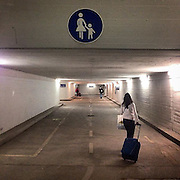 Ulm/Germany. #latergram #ulm #germany #public #railwaystation #underpass #train #station #sign #passengers #tunnel