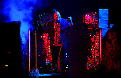 Rag n Bone Man performs on stage at the Brit Awards 2019 at the O2 Arena, London.