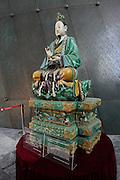 China, Tianjin, Interior of the Tianjin Museum Ming Dynasty - Monumental statue of Yuanshi Tianzun