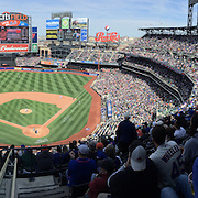 A panoramic view of Citi Field during the New York Mets Vs Miami Marlins MLB regular season baseball game at Citi Field, Queens, New York. USA. 19th April 2015. Photo Tim Clayton