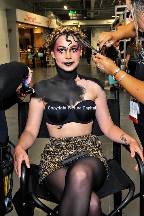 Treasure house of makeup demo at IMATS London on 18 May 2019,  London, UK.