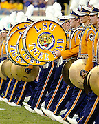 September 27, 2008; Baton Rouge, LA, USA; LSU Tigers marching band marches onto the field for their pre-game performance at Tiger Stadium in Baton Rouge. LSU defeated the Mississippi State Bulldogs 34-24. Mandatory Credit: Crystal LoGiudice-US PRESSWIRE ..