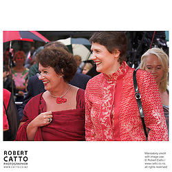 Helen Clark;Judith Tizard at the River Queen Premiere in Wanganui, New Zealand.<br />