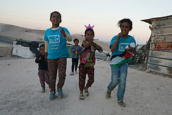Children in Khan Al-Ahmar, a Bedouin settlement under threat of eviction and demolition by the Israeli authorities. From a series of travel photos taken in Jerusalem and nearby areas. Photo date: Wednesday, August 1, 2018. Photo credit should read: Richard Gray/EMPICS