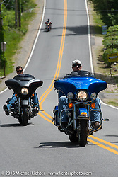 Riding Scenic Road out of Weir's Beach during Laconia Motorcycle Week. NH, USA. June 20, 2014.  Photography ©2014 Michael Lichter.