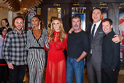 Judges Amanda Holden (centre), Alesha Dixon (second from left), David Walliams (second from right) and Simon Cowell with presenters Anthony 'Ant' McPartlin (left) and Declan 'Dec' Donnelly (right) attending the Britain's Got Talent auditions at the Blackpool Opera House, Blackpool. Picture date: Tuesday January 16th, 2018. Photo credit should read: Matt Crossick/ EMPICS Entertainment.